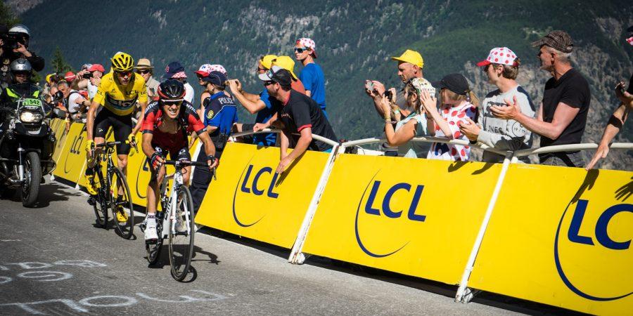 spectators getting cheap thrills watching bike race